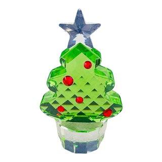 Swarovski Green Crystal Figurine Christmas Tree For Sale