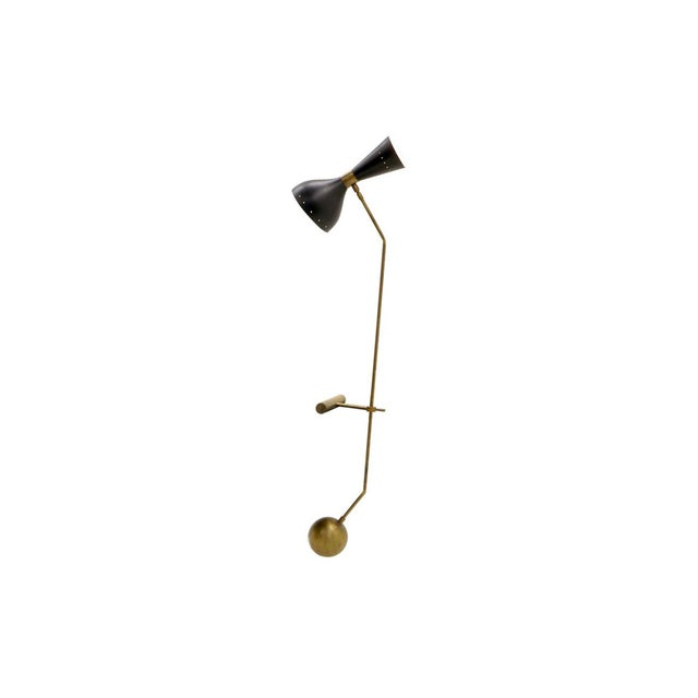 Adjustable Brass Table Lamp With Counter Balance by Stilnovo For Sale - Image 9 of 9