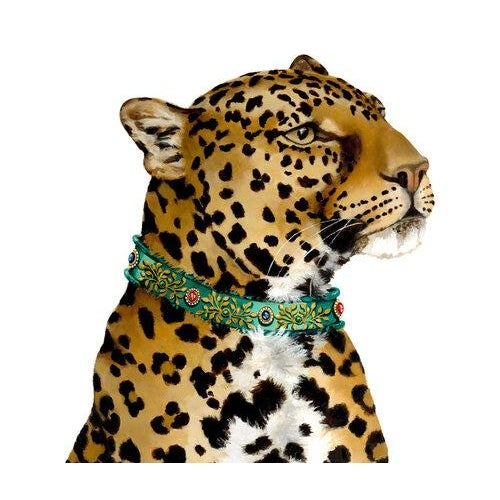 Farmhouse Pair of Leopards, Free-Standing Decorative Objects For Sale - Image 3 of 4