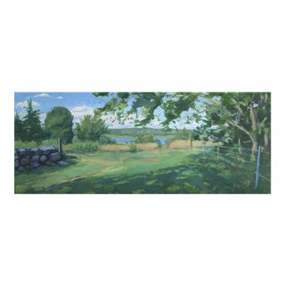 Landscape View to the River Painting