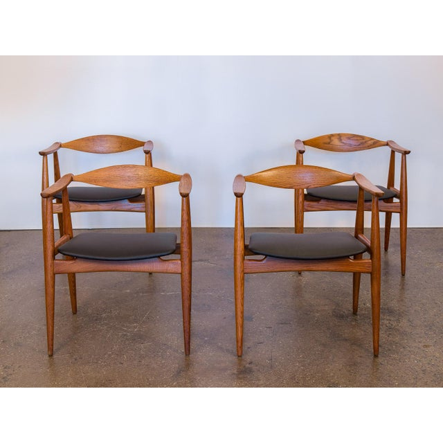 Set of Four Wegner CH-35 Armchairs - Image 3 of 11