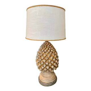 French Pine Style Lamp For Sale