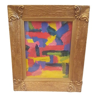 Original Abstract Oil Painting Framed