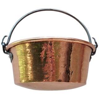 19th Century French Copper Cauldron