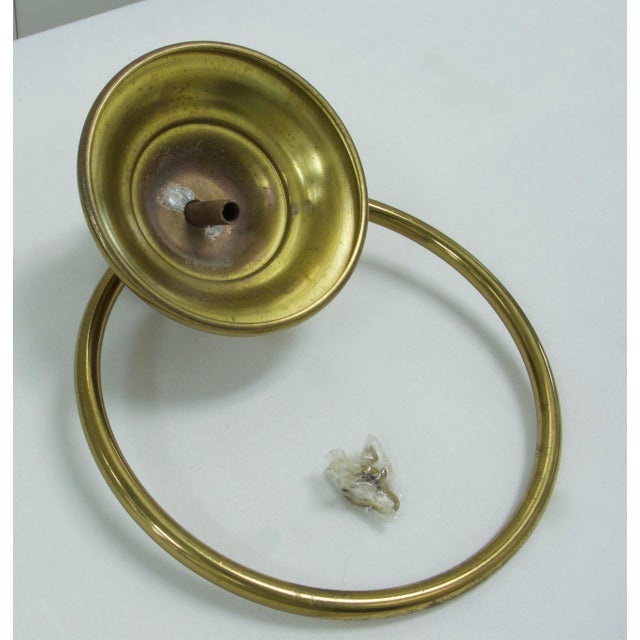 1960s Mid-Century Modern Brass Towel Ring For Sale - Image 5 of 7
