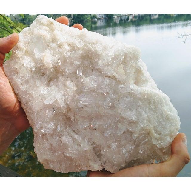 2010s Extra Large Quartz Crystal Cluster For Sale - Image 5 of 12