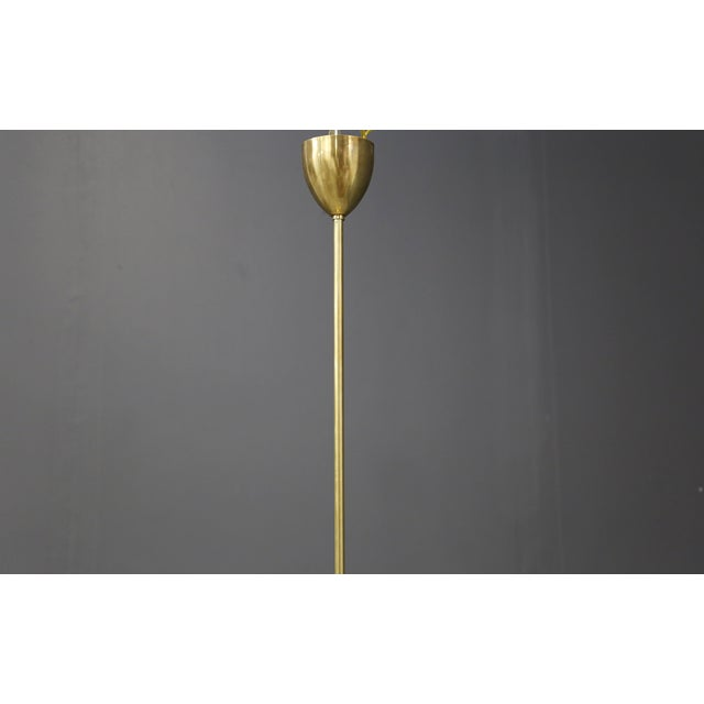 Chandelier in Style Mid Century in Brass With Spokes, 2020s For Sale - Image 6 of 9