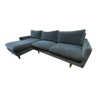 Room & Board Jasper Velvet Sectional For Sale