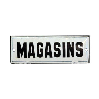 "Vintage French ""Magasins"" Wall Sign"