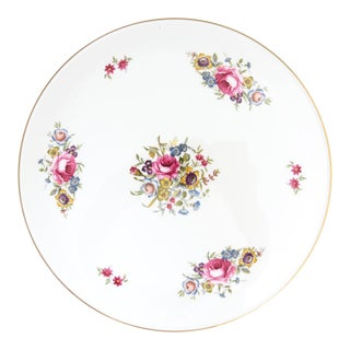 Royal Worcester Floral Cake Plate in Original Box For Sale