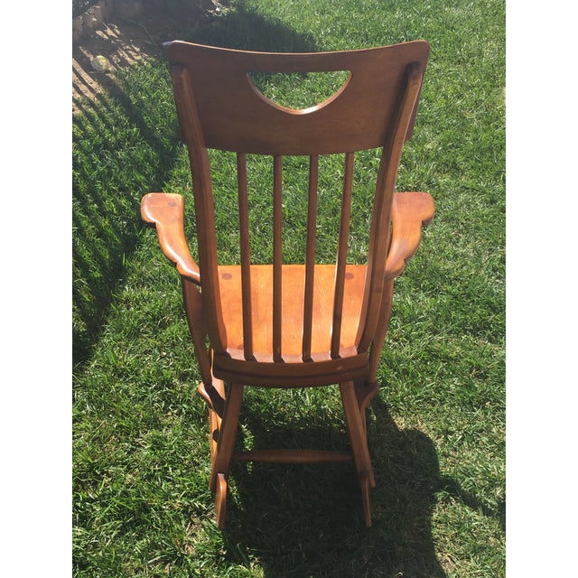 1940s Sikes Arts and Crafts Maple Rocking Chair For Sale - Image 5 of 11