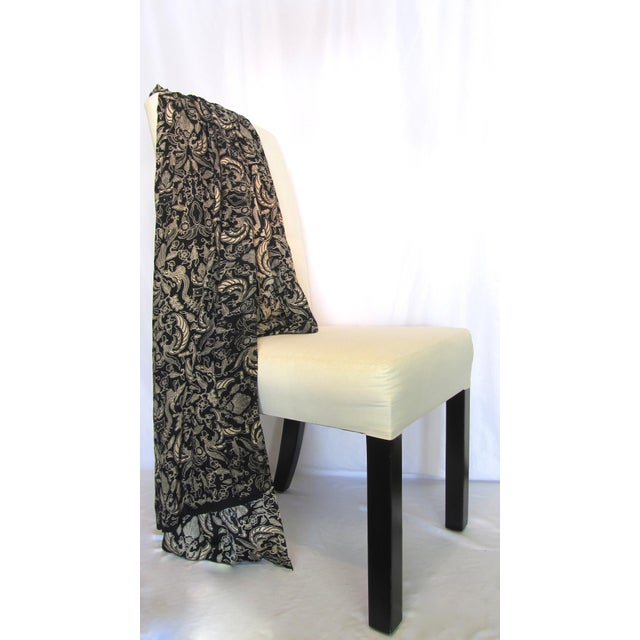 Black & Gold French Silk Damask Throw - Image 3 of 9