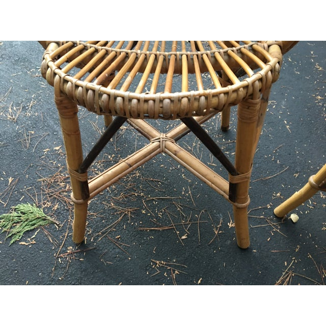 Bamboo Dining Chairs - Set of 4 - Image 7 of 9