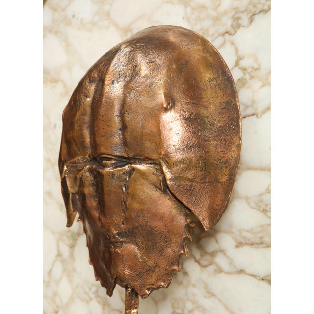 """French Bespoke """"Limule"""" Horse Shoe Crab Bronze Sconce by Bernard Figueroa For Sale - Image 3 of 7"""