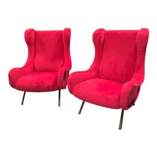 1960s Pair of Marco Zanuso Senior Armchairs for Arflex For Sale
