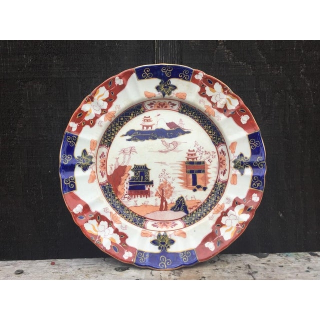 Asian Mason's Ironstone England Plate For Sale - Image 3 of 8