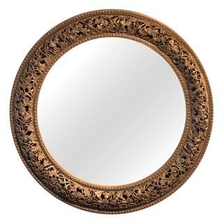 Victorian Crown Round Mirror