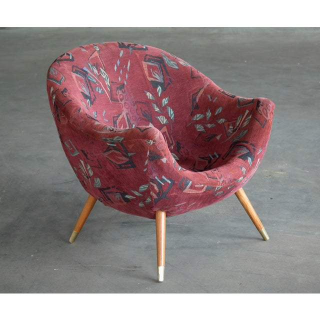 1960s 1960's Italian Lounge Chair in the Style of Gio Ponti Ca. For Sale - Image 5 of 13
