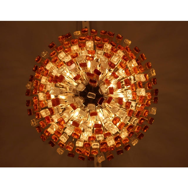 Glass Large 1960s Venini Chandelier For Sale - Image 7 of 10