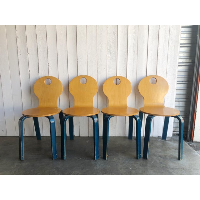 Two Tone Dining Chairs by Thonet- Set of 4 For Sale - Image 13 of 13