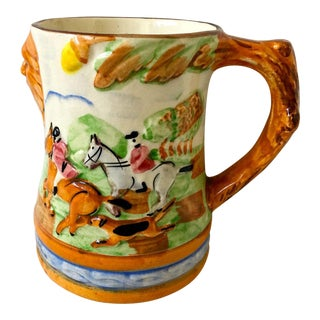 Late 19th Century Antique Minton Hunting Scene Mug For Sale