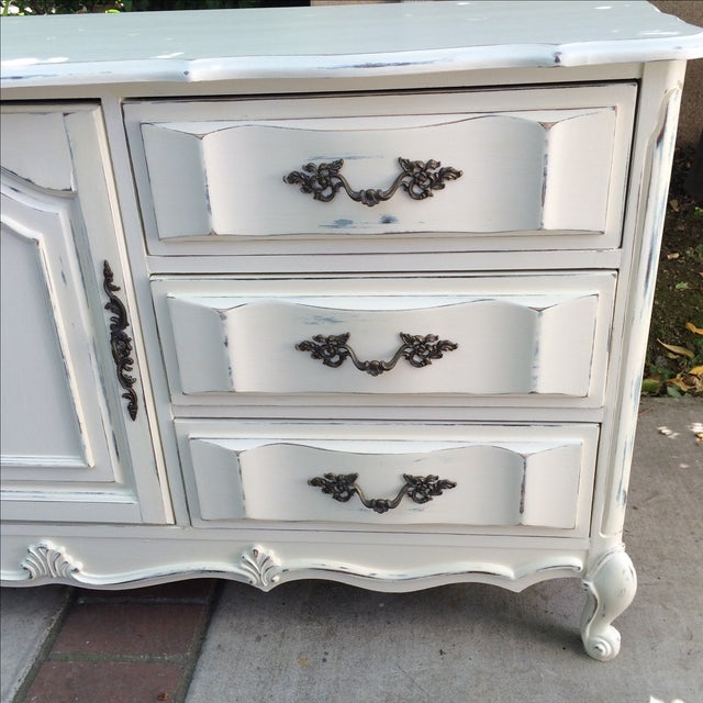 French Provincal White Buffet Dresser For Sale - Image 7 of 11