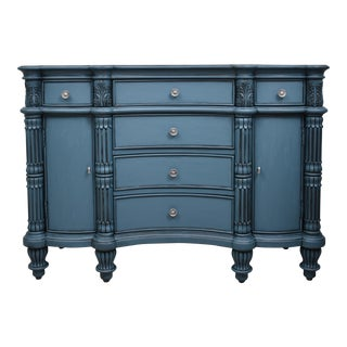 Pulaski Seaside Blue Credenza Buffet Cupboard Chest