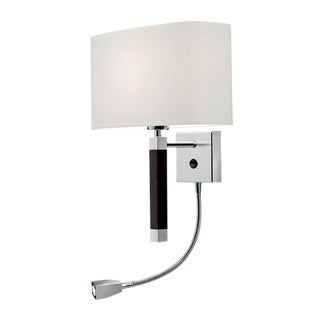 Urban Polished Chrome Wall Light With Reading Light For Sale
