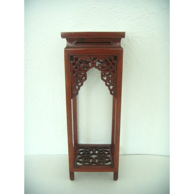 Ornate Vintage Chinese Rosewood Display Stand - Image 2 of 7