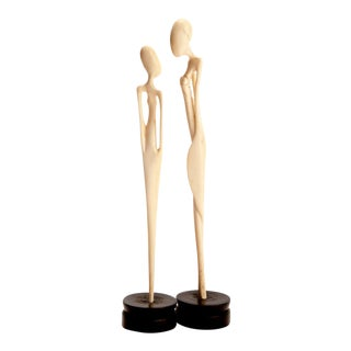 African Mother and Daughter Tribal Figures - A Pair For Sale