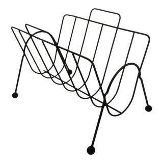Atomic Mid-Century Wire Magazine Rack