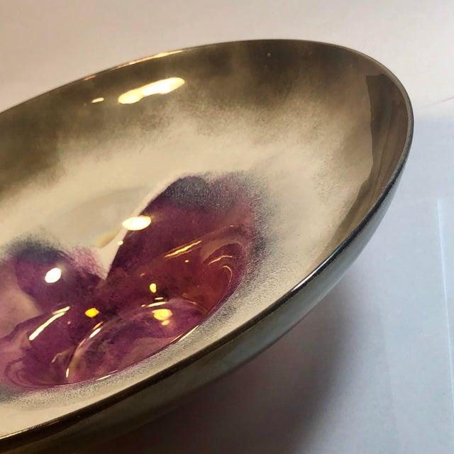1990s Decorative Porcelain Vessel in Gradient Metallic Finish For Sale - Image 5 of 13