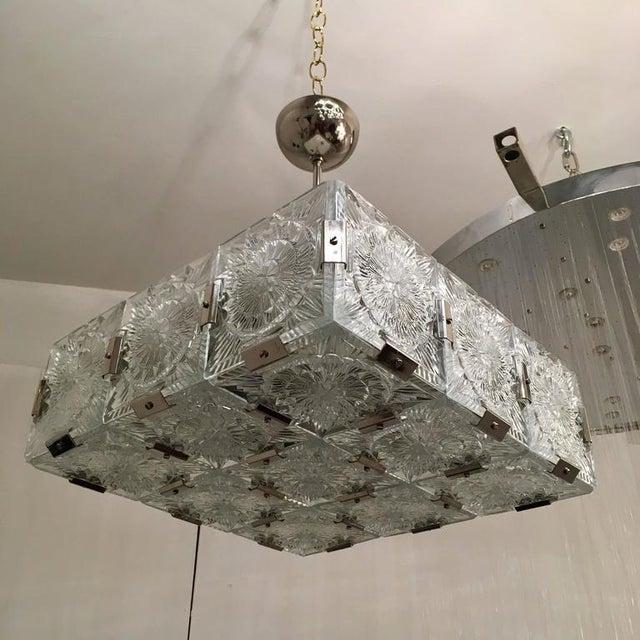 1960s Czech Bohemian Crystal Flush Pendant For Sale In New York - Image 6 of 10