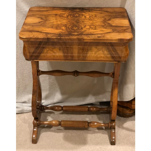 Biedermeier 1820s Biedermeier Sewing Table For Sale - Image 3 of 7