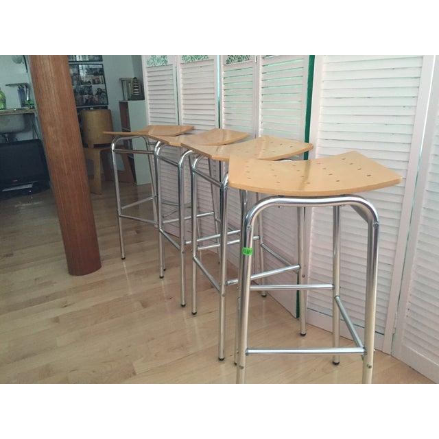 Modern Countertop Stools - Set of 4 - Image 6 of 7
