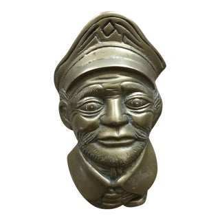 Nautical Solid Brass Ship Captain Door Knocker For Sale
