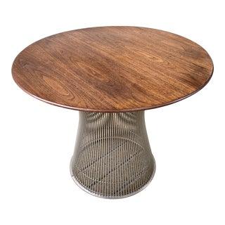 Warren Platner for Knoll Walnut Side Table For Sale