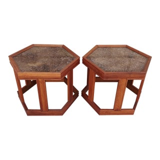 Mid Century John Keal for Brown Saltman Tables - a Pair For Sale