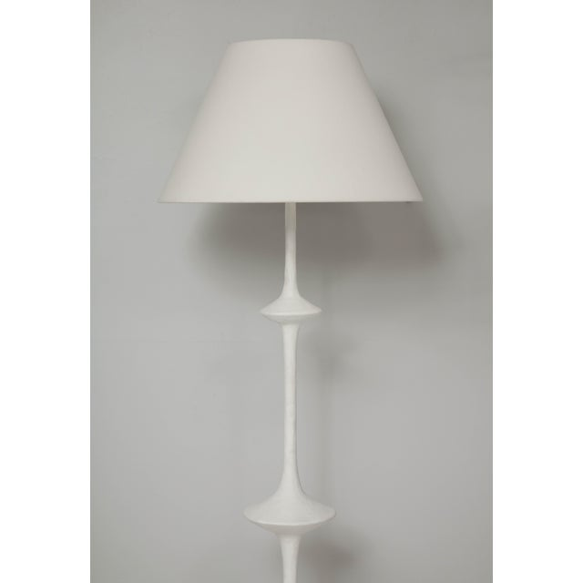 Modern Custom Plaster Floor Lamp in the Giacometti Manner For Sale - Image 3 of 11