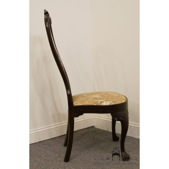 Stickley Queen Anne Splatback Mahogany Dining Side Chair For Sale - Image 10 of 13
