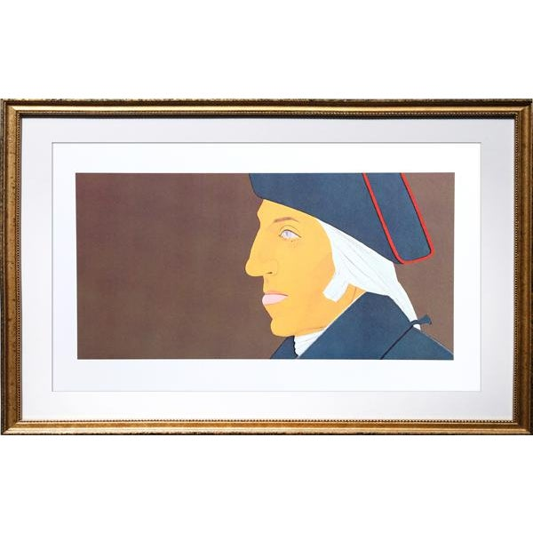 1975 Alex Katz George Washington From Kent-Bicentennial Portfolio Lithograph - Image 2 of 3