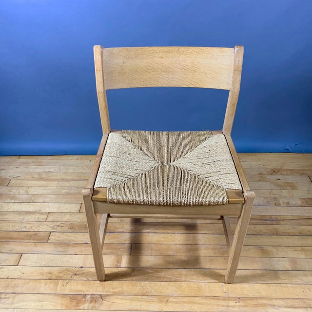 Wood Børge Mogensen Bm2 Oak & Papercord Dining Chairs, Denmark 1960s For Sale - Image 7 of 13