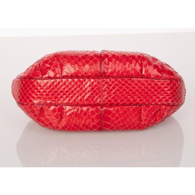 Judith Leiber Vintage Judith Leiber Red Snake Skin Clutch Bag For Sale - Image 4 of 7