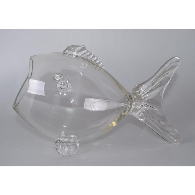 Blenko Handblown Glass Fish Candy Bowl - Image 4 of 9