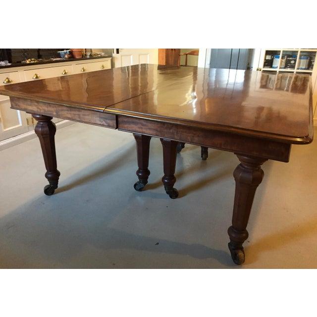Solid mahogany late regencyearly victorian dining table chairish solid mahogany late regencyearly victorian dining table image 2 of 11 workwithnaturefo
