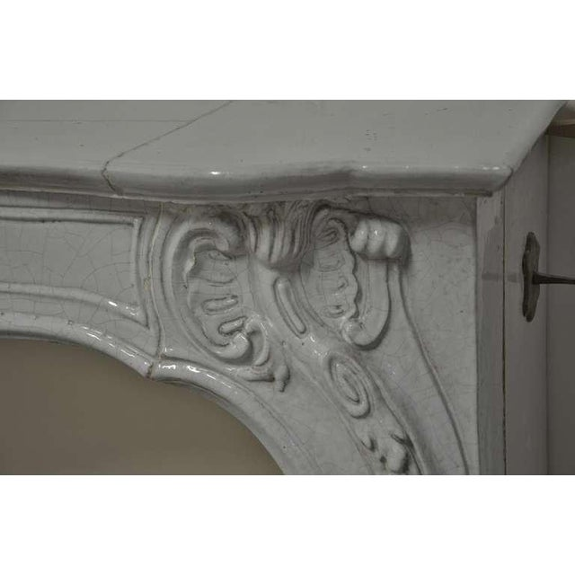 -Unique - 19th c. Porcelain French Rococo Fireplace For Sale - Image 10 of 11