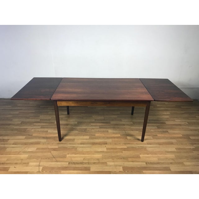 Rosewood Mid-Century Danish Rosewood Dining Set For Sale - Image 7 of 11