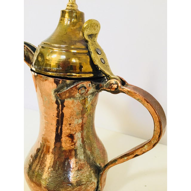 Middle Eastern Dallah Arabic Copper Coffee Pot For Sale - Image 10 of 12