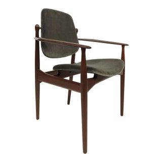 Arne Vodder Danish Modern Teak Desk Dining Side Chair for France and Daverkosen For Sale