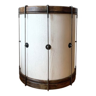 Contemporary Restoration Hardware Drum Side Table For Sale